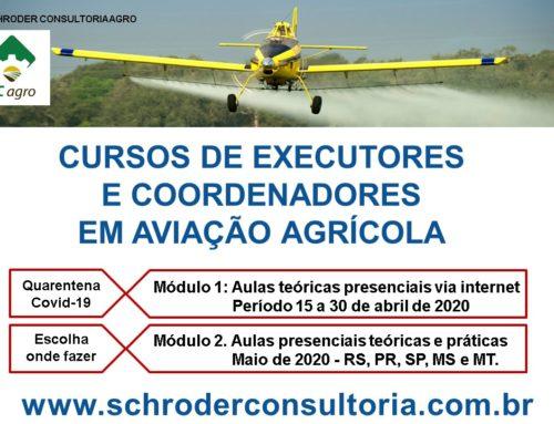 Novos cursos de aviação agrícola são lançados em tempos de Covid-19