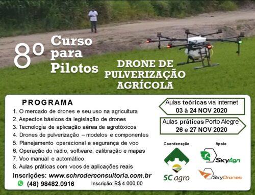 8ª Curso para pilotos – Drone de pulverização Agrícola